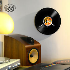 Wanduhr Schallplatte Party time Retro Record Clock