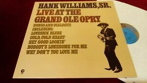 HANK WILLIAMS - LIVE AT THE GRAND OLE OPRY - UK LP