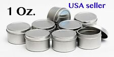 1 Oz Round Metal Tin Container for lip balm,crafts,storage,survival ( 5 Pack)