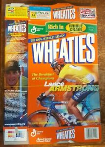 Lance Armstrong Tour De France Cycling 18 oz Wheaties Cereal Box B PC