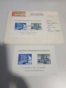 DDR 1963 Chemie Industrie gelaufner Brief mit Block 15 + Block 15 ** Tagesstempe