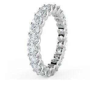UK Arbeitsgemeinschaften F/VS 1.00ct U Prong Rund Diamant Volle Ewigkeit Ring, Platin