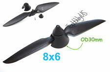 8x6 Plastic Folding Propeller Assembly (2.3mm Blush Motor Only), US TH025-00208