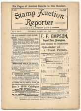 March 1898 Stamp Auction Reporter #5 incl. prices realized for today's rarities