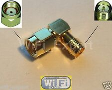 RF Adapter RP-SMA male to RP-SMA Female Right Angle RF Connector L Type USA