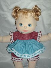 NEW! Quality Made BurgundyBlue Dress Outfit Set For Mattel My Child Doll By OTM