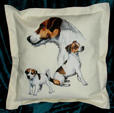 Hand crafted Jack Russells dogs cushion cover