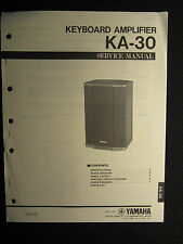 Yamaha Keyboard Amplifier KA-30 Service Shop Manual Schematics Parts List KA30