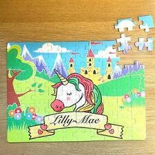 Personalised Jigsaw Puzzle Unicorn In Box ANY NAME Personal Birthday Gift