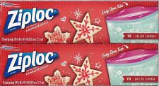 Ziploc Holiday Storage Bags Gallon 19 Count 19 CT Pack of 2 Star Cookie Design