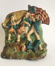 1776 Battle For Independance 1930's Cast Iron Door Stop