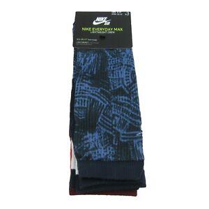 Nike SB Everyday Max Lightweight Skate Crew Socks 3 Pairs (1 Pack) NEW Mens 8-12