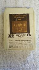 Crosby Stills Nash & Young Deja Vu 8 Track Tape Cleaned & Tested White Shell Vg+