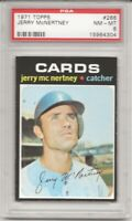SET BREAK -1971 TOPPS # 286 JERRY MCNERTNEY, PSA 8 NM-MT, ST. LOUIS CARDINALS