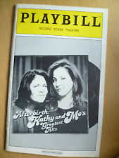 2004 PlayBill SECOND STAGE Theatre: AFTER BIRTH: KATHY AND MO'S GREATEST HITS