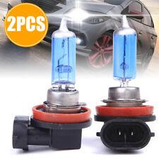 2Pcs H11 12V 55W Super Bright Ultra White Fog Halogen Bulb Car Head Light Lamps