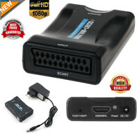HD 1080P Scart To HDMI Video Audio Upscaler Converter Adapter For Sky Box TV DVD