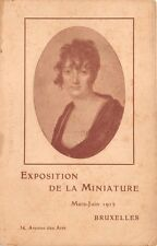 BRUXELLES BELGIUM EXPOSITION de la MINIATURE POSTCARD c1912