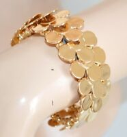 PULSERA mujer brazalete oro brillante rígido strass ceremonia armband 1045