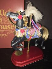 """Vaughn Carousel Horse By Once Upon A Carousel Company """"Midnight Racer"""" LE 5000"""