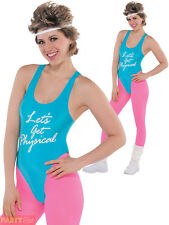 Lets Get Physical Ladies Costume 1980s Oliva Fitness Womens 80s Fancy Dress -