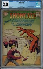 CGC 2.0 SHOWCASE #6 CHALLENGERS OF THE UNKNOWN 1ST APPEARANCE 1957 OW PAGES