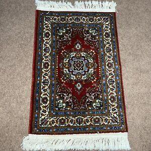 Moren Oriental Rugs Turkish Geometric Wool Blend Area Rug Red Blue Colorful 2x3