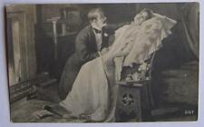 Antique before 1917 RUSSIAN POSTCARD picture AGAIN TOGETHER loving couple r170b