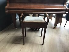 More details for beautiful wooden piano stool with storage and velour seat
