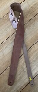 Liam's Soft Leather 3 Inch Wide Guitar Strap Light Brown