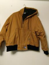 JEEP Work Wear Hooded Insulated Work Jacket Mens Size 2XL tan