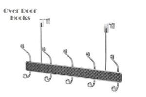 5 Chrome Over Door Hanging Hook Durable Home Hangers Clothes Hanging Hooks