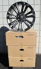"22"" New GMC Sierra Yukon Factory Spec Gunmetal Set of 4 Wheels Rim 5666"