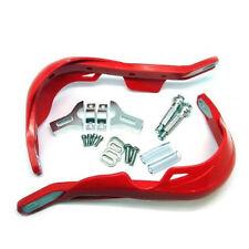 Motorbike Hand Guards Handguards Protectors Aluminium & Plastic - RED