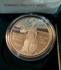 1996-S USA NATIONAL COMMUNITY SERVICE PROOF 90% SILVER DOLLAR COIN A