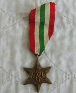WWII THE ITALY STAR MEDAL ( original )