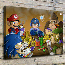 Gaming Poker By Mariao Painting HD Print on Canvas Home Decor Wall Art Picture