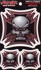 Aufkleber Set Modell Iron Cross Skulls Größe 6,5 x 6,5 cm