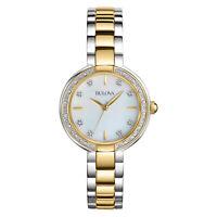 Bulova Women's 98R172 Aracena Diamond Accent Two-Tone Bracelet 29mm Watch