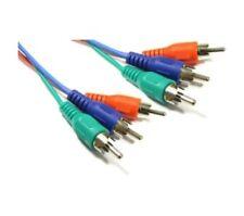 1.8m Cable de Video Componente Rgb Triple Phono Plomo 3 X Rca Av Ypbpr Roja Verde Azul