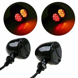 Smoke LED Turn Signal Lights Motorcycle Bike Running Brake Lamp For Honda Yamaha