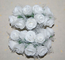 50pc HANDMADE PE Flowers Wedding Bouquet Brooch Bridal Bouquet Posy Home Decor