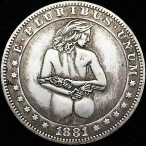 1881 USA Vintage Nicke Morgan Silver Money dolar Collectible Souvenirs