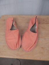 havaianas, womens size 9, orange canvas shoes