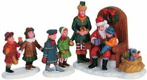 New Lemax Figurines 62276 Visiting Santa Set Of 3  Polyresin 2021
