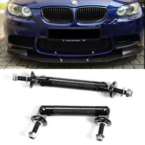 Black Carbon Strut Tie Bar Support Rod For Subaru Mazd Splitter Diffuser Spoiler