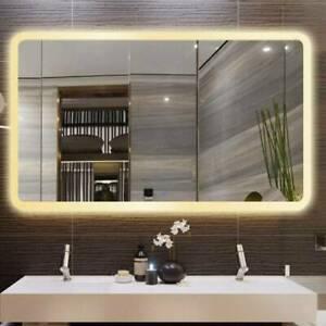 50x70cm LED Badspiegel Badezimmer Spiegel Wandspiegel mit Beleuchtung Touch DE