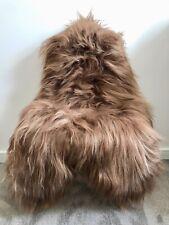 XL Large Genuine Icelandic Sheepskin Rug Rusty Honey/Nougat Brown Real Fur
