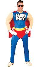 costume UOMO BIRRA beerman duff CARNEVALE travestimento SUPEREROE 110 80743