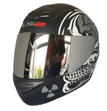 LS2 FF352 X-RAY ROOKIE FULL FACE MOTORCYCLE CRASH HELMET WITH CHROME VISOR